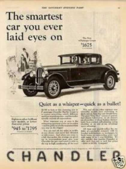 "Chandler 4-passenger Coupe Ad ""The Smartest... (1927)"