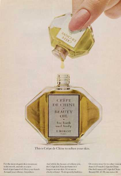 Crepe De Chin Beauty Oil Bottle (1965)