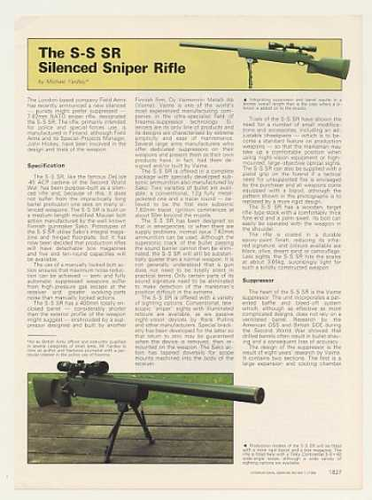 Field Arms S-S SR Silenced Sniper Rifle 2P Article (1985)