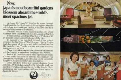 Japan Air Lines 747 Garden Jet Photos (1970)