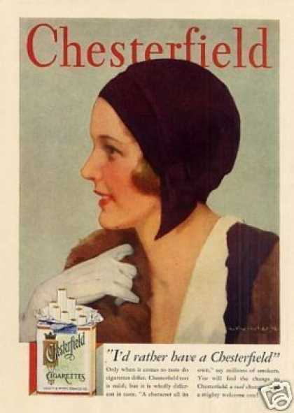 Chesterfield Cigarettes (1931)