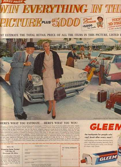 Gleem's Tooth Paste (1958)