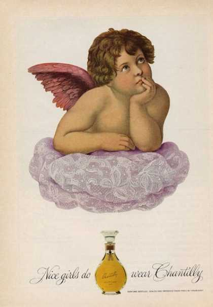 Houbigant Chantilly Perfume Cherub Angel (1965)