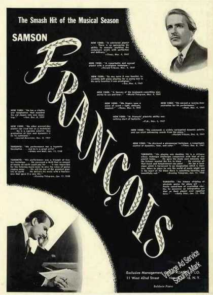 Samson Francois Photos Pianist Music (1948)