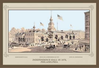 Independence Hall in , Philadelphia (1876)