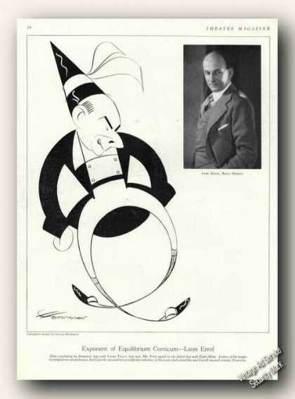 Leon Errol Photo & Caricature Theater Promo (1929)