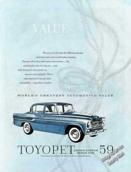 Toyopet Crown Custom Sedan Car (1959)