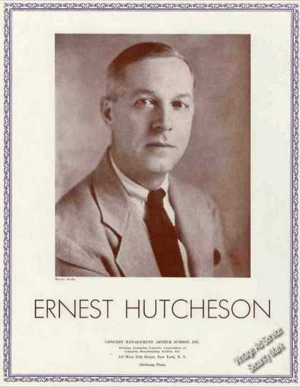 Ernest Hutcheson Photo Pianist/compose (1936)
