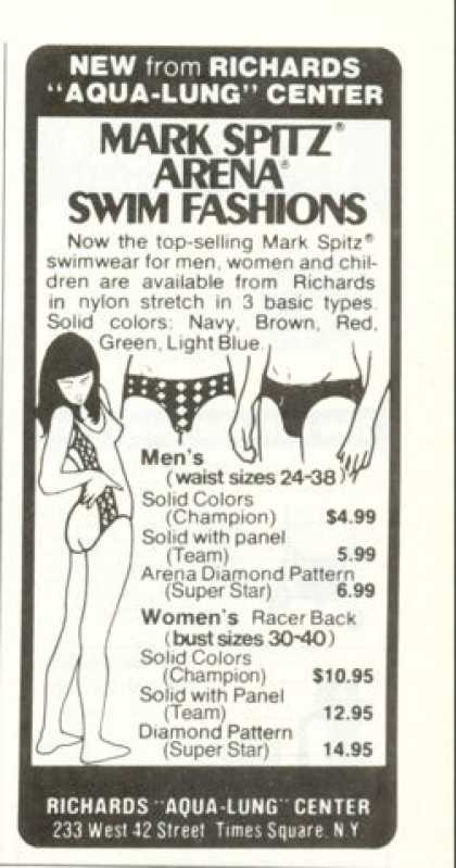Mark Spitz Arena Swim Fashion Trunks (1976)