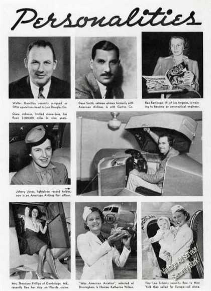 Aviation Personalities Magazine Photo Feature (1939)