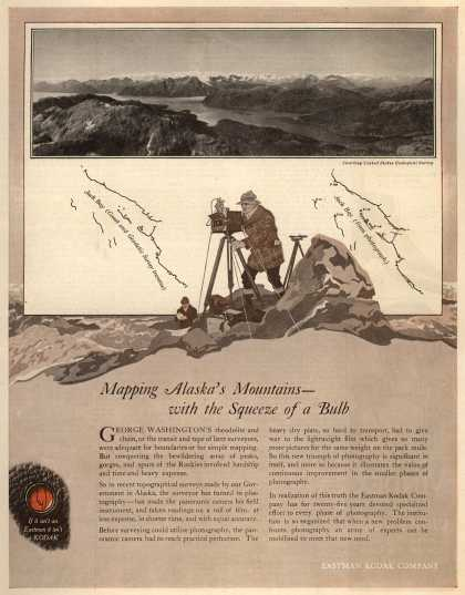 Kodak – Mapping Alaska's Mountains – with the Squeeze of a Bulb (1919)