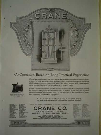 Crane Plumbing Co. Valves Pipes Fittings (1920)