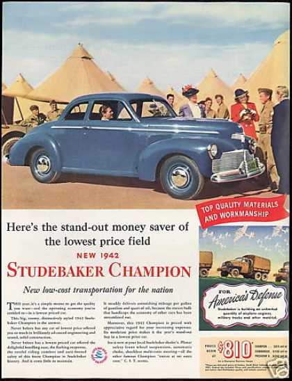 Studebaker Champion 2dr Car Photo Vintage (1942)