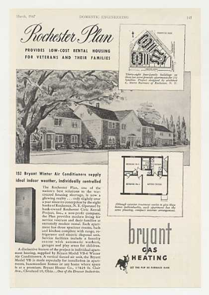 Bryant Air Conditioner Rochester Plan Housing (1947)