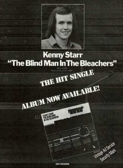 "Kenny Starr ""Blind Man In the Bleachers"" Album (1976)"