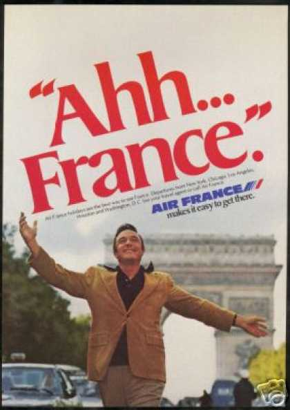 Gene Kelly Photo Air France Airlines (1977)
