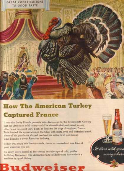 """How the American Turkey captured France"" (1948)"