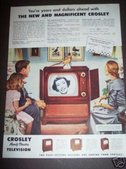 Crosley Tv Television Model 20-cdc-2 (1951)