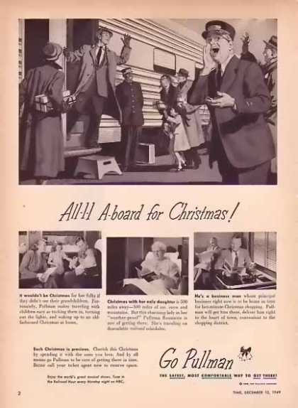 Pullman All A-board for Christmas Train (1949)