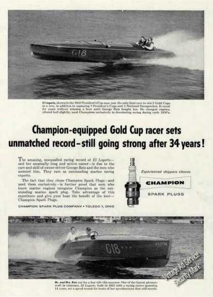 Champion Ad W/1933 Photos of El Logarto Racer (1956)