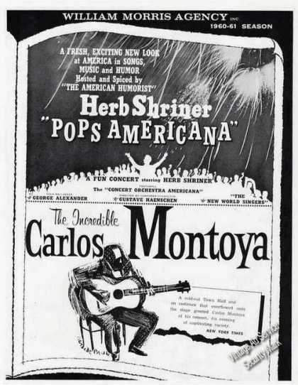 Carlos Montoya & Herb Shriner/ William Morris (1960)