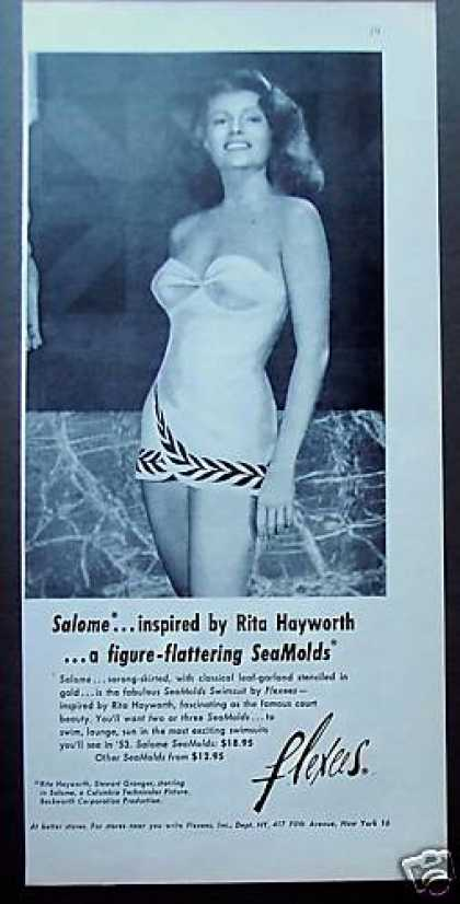 Rita Hayworth In Flexees Swimsuit Photo (1953)