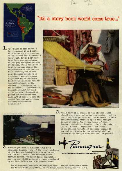 "Pan American Grace Airway's South America – ""it's a story book world come true..."" (1946)"