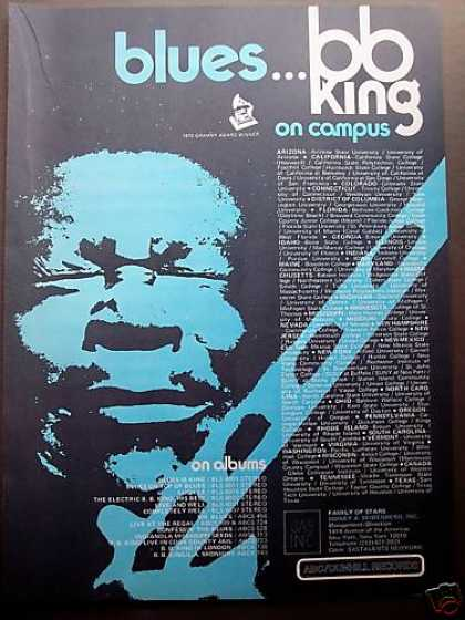 Bb B. B. King Campus Tour Schedule Promo (1972)