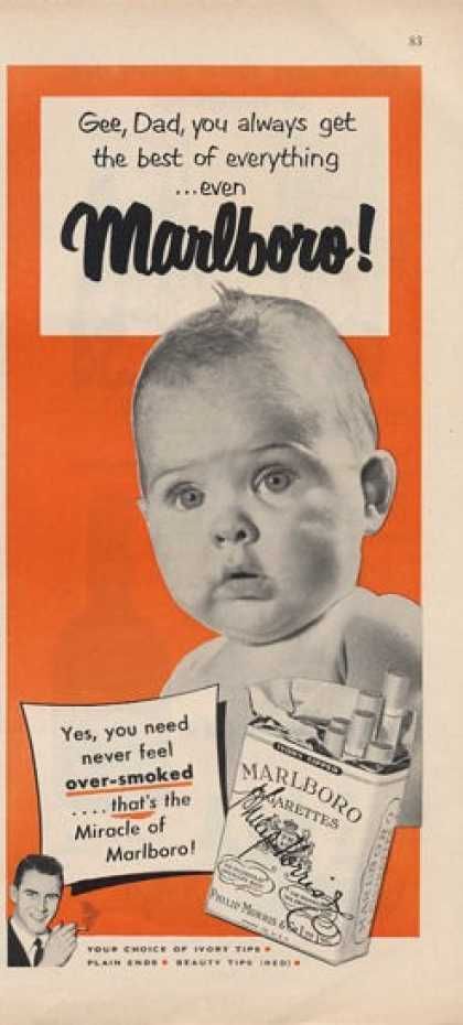 Marlboro Cigarettes Baby for Dad (1951)