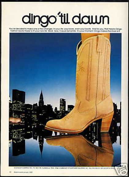 Dingo Fashion Cowboy Boot Photo Print Vintage (1982)