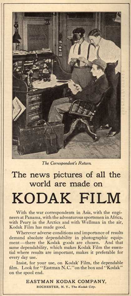 Kodak – The news pictures of all the world are made on Kodak Film (1911)