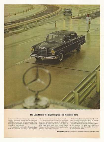 Mercedes-Benz 300SE Sedan on Test Track Photo (1963)