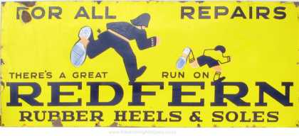 Redfern Rubber Heels &amp; Soles Sign
