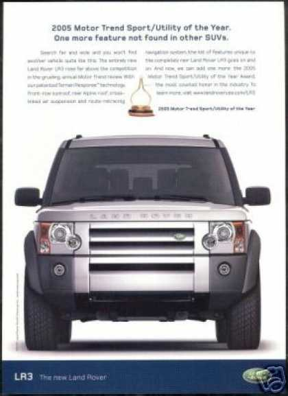 Land Rover LR3 LR-3 Motor Trend Award Car (2005)