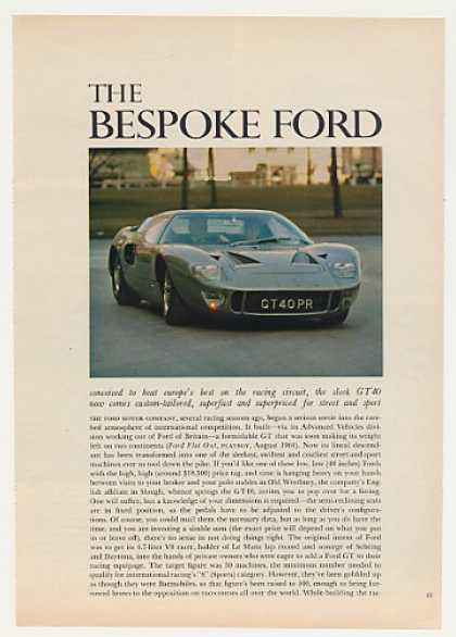 Ford GT40 Sports Car 3-Page Photo Article (1966)