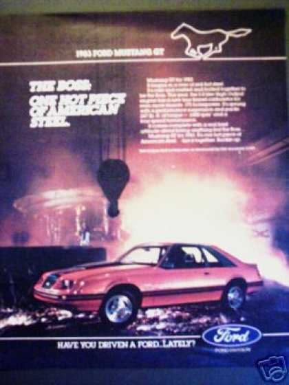 Boss Ford Mustang Gt Original Car Photo (1983)