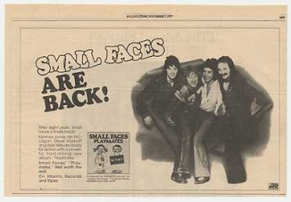 Small Faces Playmates Album Promo Photo (1977)