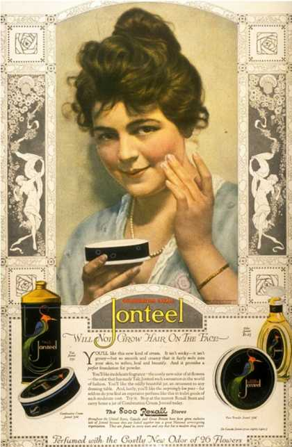 Jonteel, Face Cream, USA (1900)