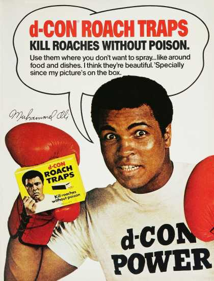 D-Con Roach Traps &#8211; Muhammed Ali