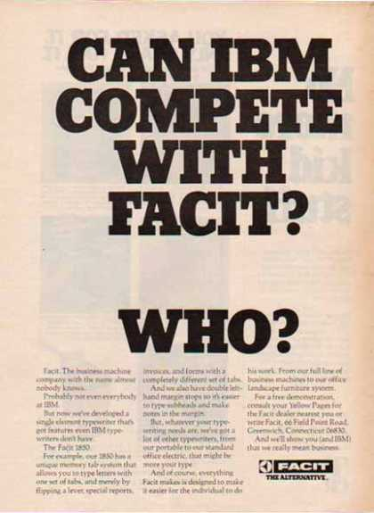 Facit – Can IBM Compete with Facit? Who? (1976)