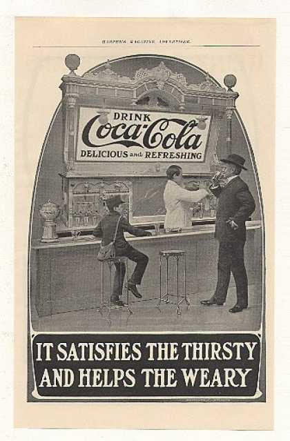 Coke Coca-Cola Boy Man at Fountain (1905)