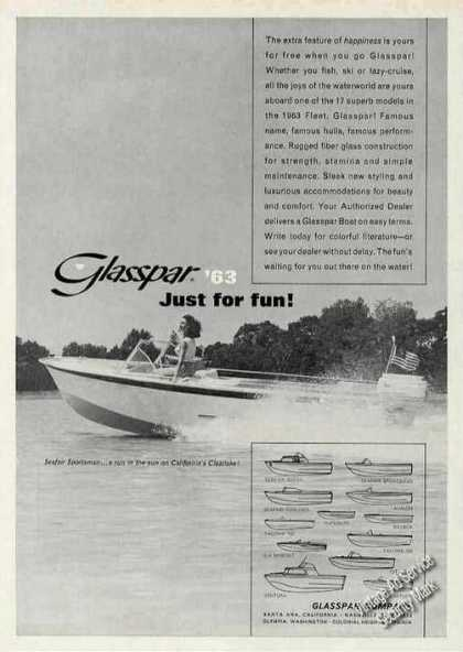 Glasspar Seafair Sportsman On Clearlake Ca (1963)