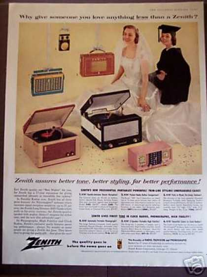 Zenith Portable Radios Record Players 6 Models (1956)