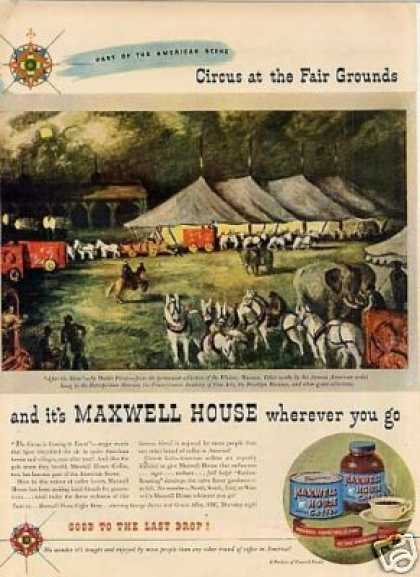 Maxwell House Coffee Ad Waldo Price Art (1946)