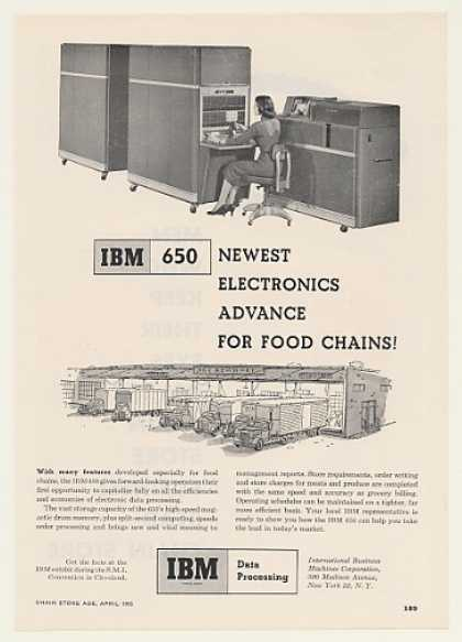 IBM 650 Data Processing Computer for Food Chain (1955)