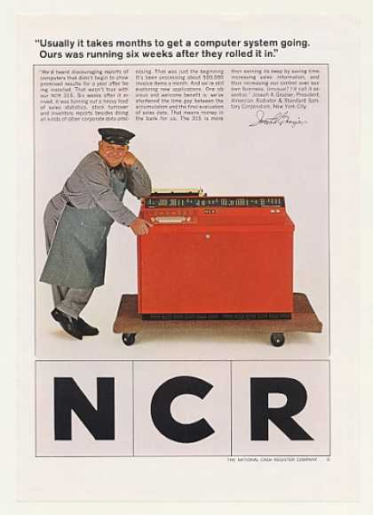 J Grazier American Radiator NCR 315 Computer (1965)