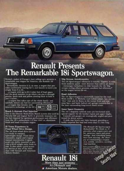 Renault 18i Sportswagon Collectible Car (1981)