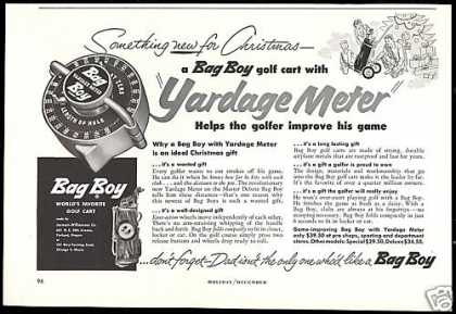 Bag Boy Golf Cart Yardage Meter (1953)