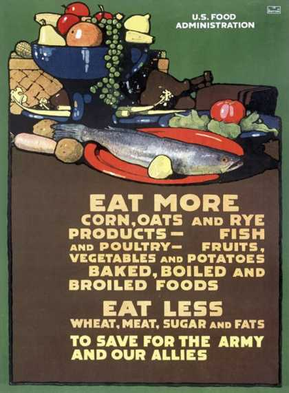 U.S. Food Administration, Ration Diet