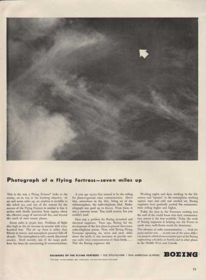 Flying Fortress Seven Miles Up By Boeing A (1942)